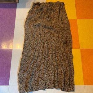 Vintage Floral Bias Cut Midi Skirt